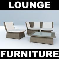 3dsmax set woven furniture chair