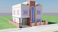 elevation house 3d max