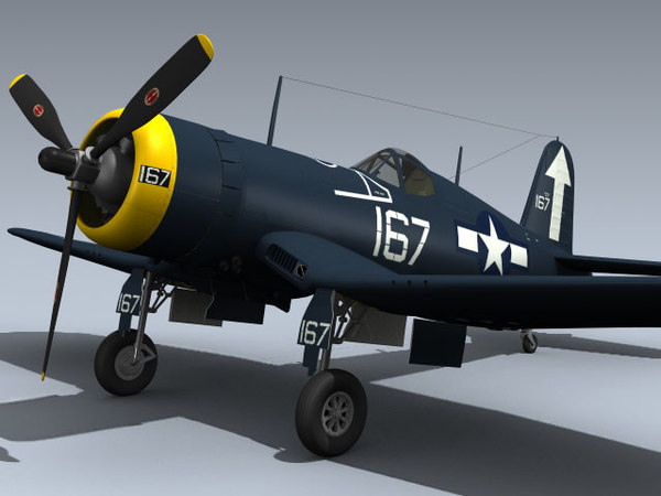 3d wwii f4u-1d corsair vf-84 model