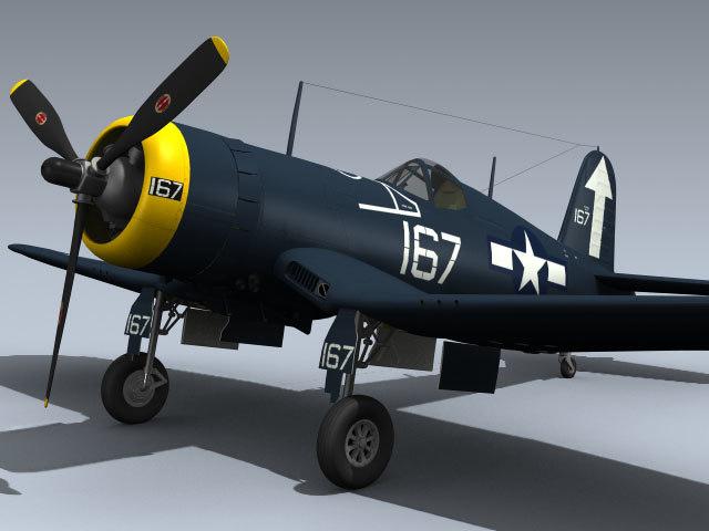 3d wwii f4u-1d corsair vf-84 model