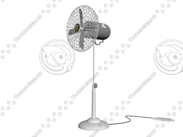 floor fan 3d model