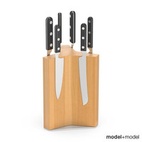 set knives stand wall 3d max