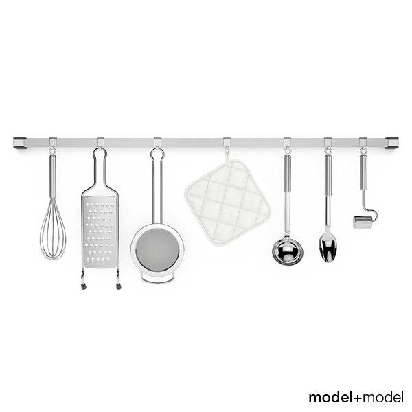 3d kitchen tools rail