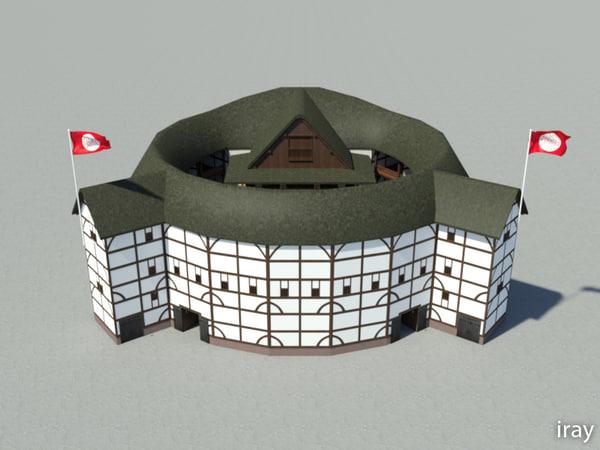 shakespeare globe theatre 3d model
