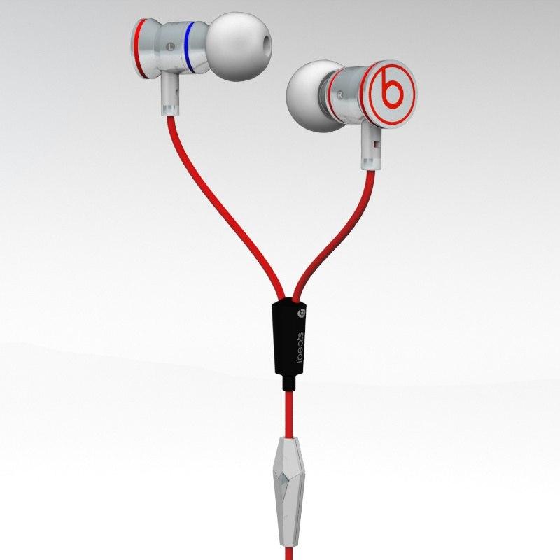 monster ibeats headphones 3d max