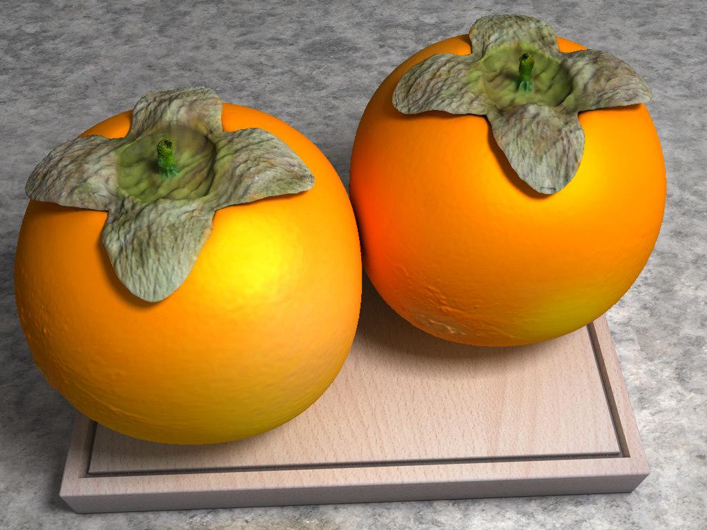 diospyros kaki japanese persimmon 3d model