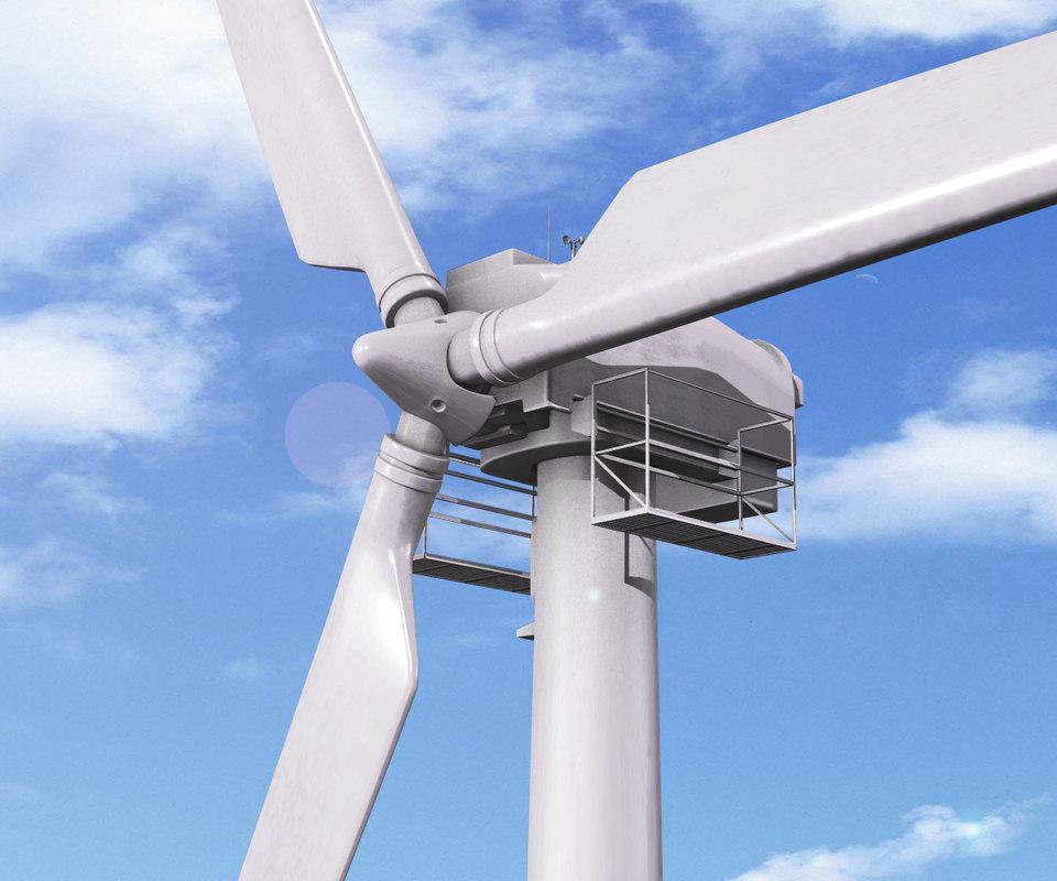 3d windmills model