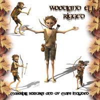 3d little woodland elf model