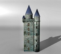 tower medieval 3d 3ds