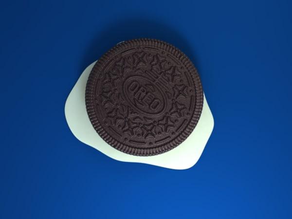 3d model oreo cookies