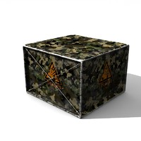3d military crate explosive model