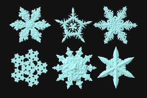 3d snowflakes christmas model