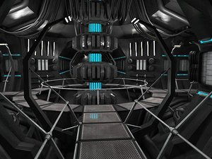 scifi interior 3d model