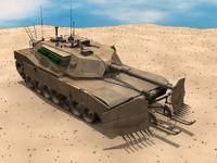 abrams tank 3d lwo