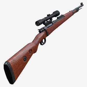 sniper karabiner 98k 3d model