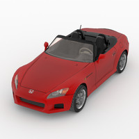 3d model low-poly honda s2000