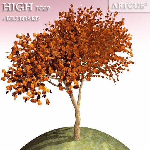 3d tree high-poly billboard model