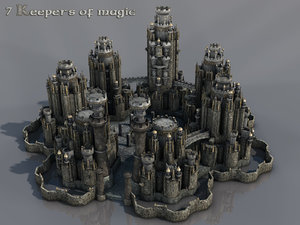 magic fantasy castle 3d model