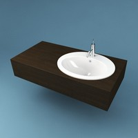 bathroom sink 3d max