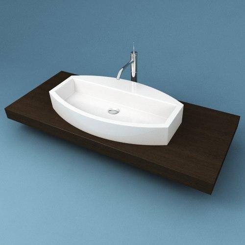 3d model of bathroom sink