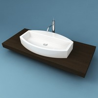 3d model of bathroom sink