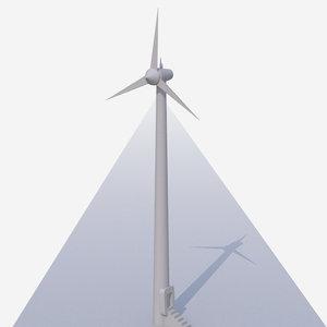 free wind turbine 3d model
