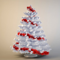3d max christmas fur-tree animation