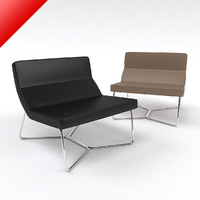 3dsmax contemporary link chair