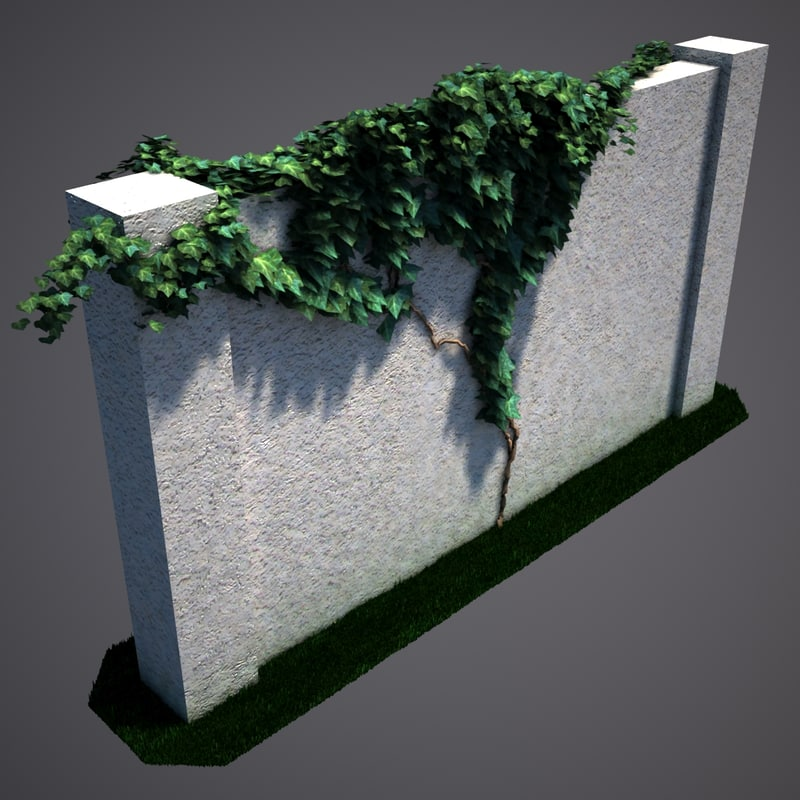fence section ivy v01 3d max