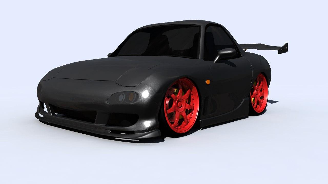 3d model stylized rx7