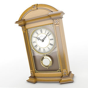 analog mantel clock 3d lwo