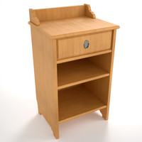 nightstand wood maxwell 3d model