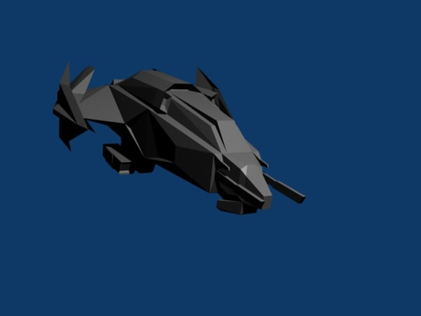 free starship fighter spacecraft 3d model