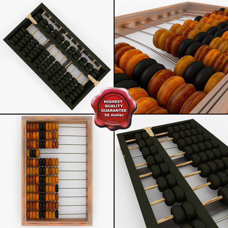 3d model abacus modelled