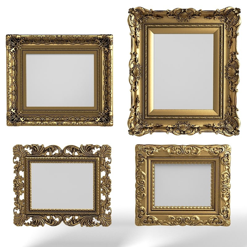 3dsmax baroque picture frames - Download Picture Frames