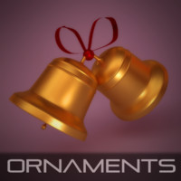 3d bell ornament christmas model