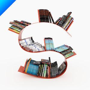 3d bookworm short ron arad model