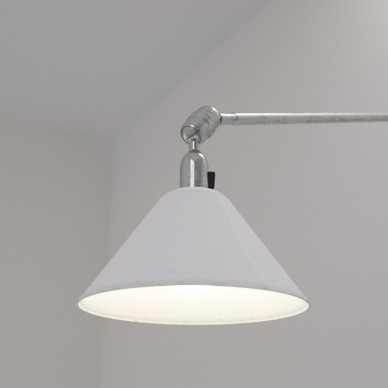 3d model of johan triplex wall lamp