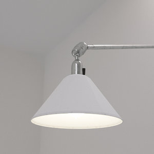 3d model of johan triplex wall lamp
