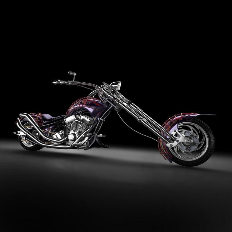 chopper bike 3d model