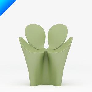 clover chair design ron arad 3d max