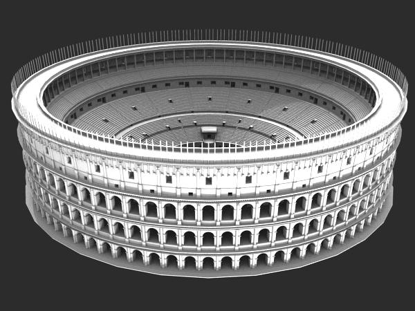 3ds max colosseum reconstruction