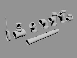 sprinkler set 3d model