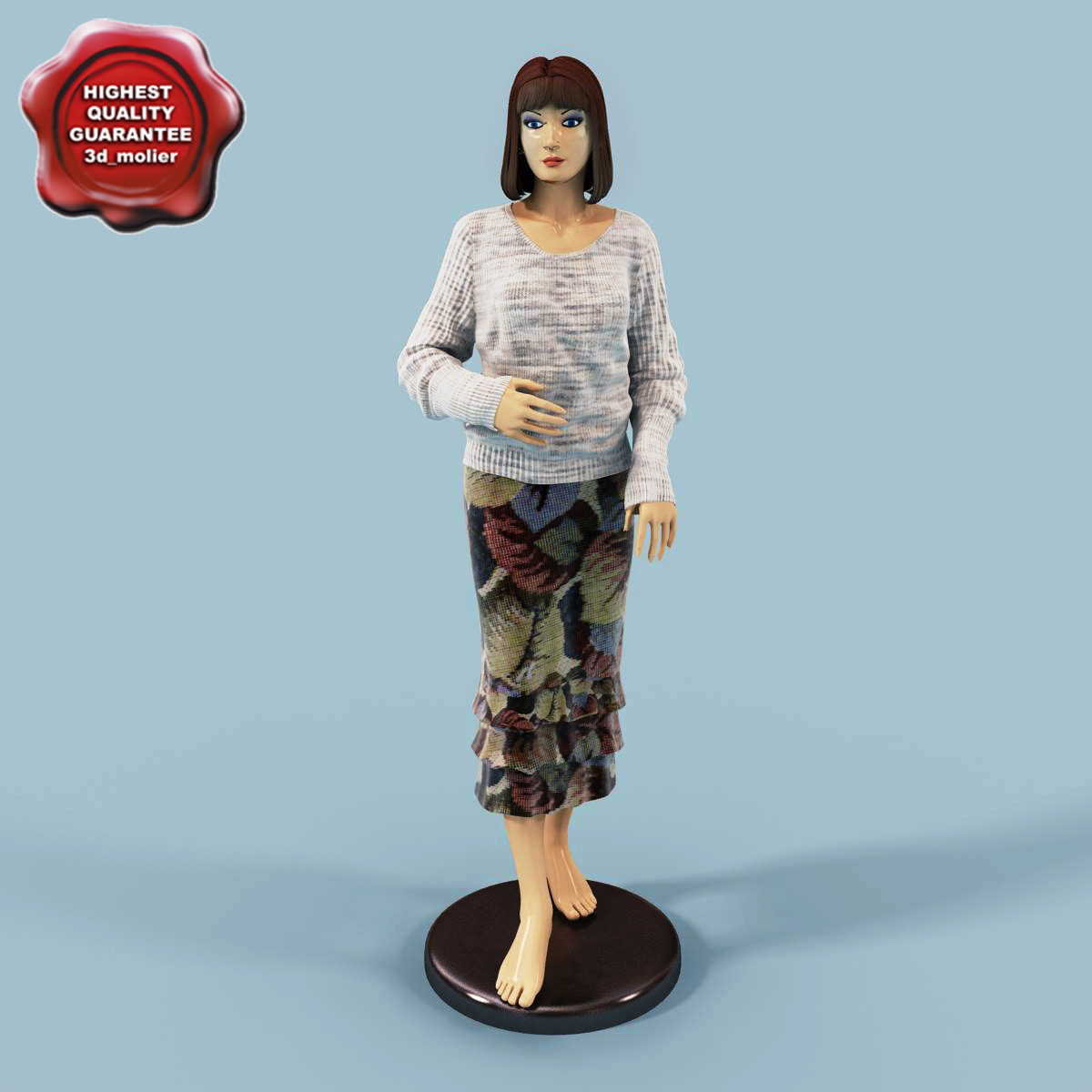 female mannequin v3 3d model