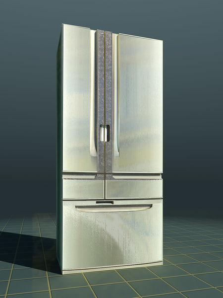 3d model fridge