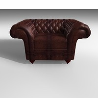 3ds grosvenor 1 seater leather chair