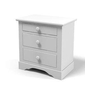 halley nightstand provence obj