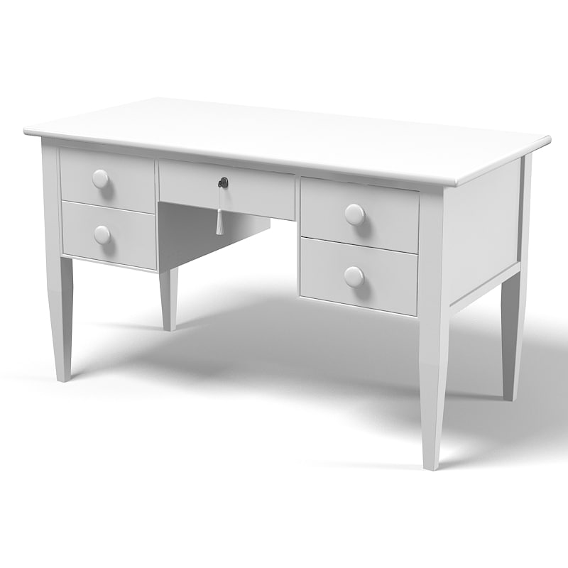 3d halley desk writing model