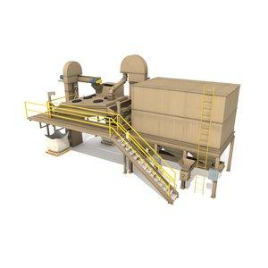 3d industrial equipment shaker model