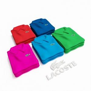 3d lacoste polo shirts